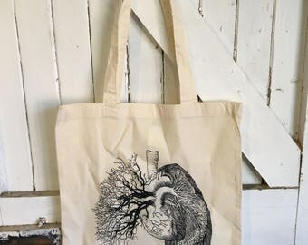Lungs Tote bag. By Jo Chastney