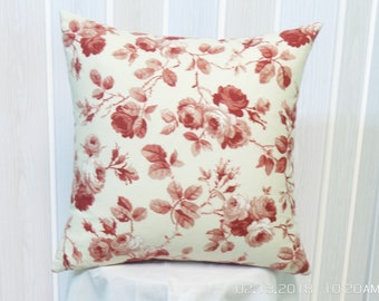 16 x 16 pillow cover, roses fabric, pillows,pillow cases
