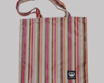 Tote Bag - multi color stripes