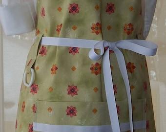 Custom Apple green cotton canvas apron