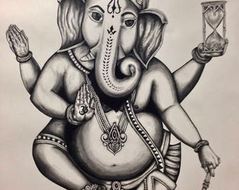 art, fine art, charcoal, drawing, illustration, elephant