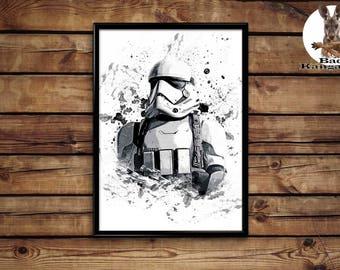 Stormtrooper print wall art home decor poster
