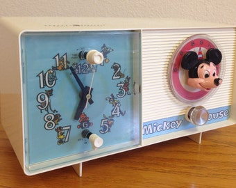 Mickey Mouse Clock Radio. It works!