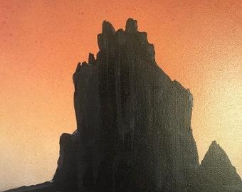 Ship Rock at dusk