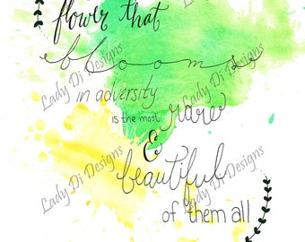Hand Lettered Disney Quote - Mulan - 5x7 Postcard