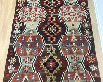 Turkish Vintage Area kilim 9.3x5.4 Feet Mut carpet,Decorative kilim,Decorative Carpet,Turkish Carpet FREE SHIPPING