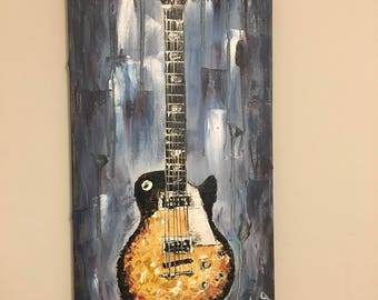 Electric Guitar Oil Painting