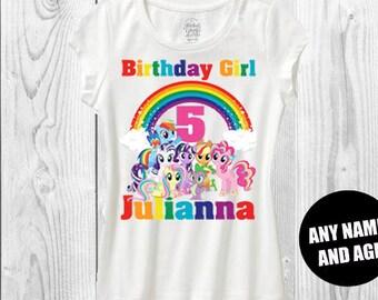 My little pony birthday shirt mlp birthday shirt