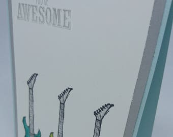 Handmade your awesome guitar card