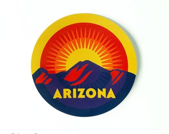 "Sunset on Camelback : 3"" Vinyl Sticker"