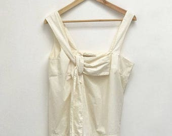 90s CHLOÉ ABSTRACT TOP- M