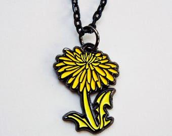 botanical necklace, DANDELION NECKLACE, boygirlparty dandelion jewelry unique womens jewelry, dandelion wishes, Dandelion gifts, spring gift