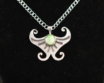 Fine Silver Butterfly Pendant Necklace