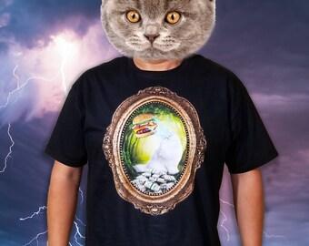 Cat Burger Lightning Money T-Shirt by Poison Apple Shirts - Cat Shirts Cat Tees