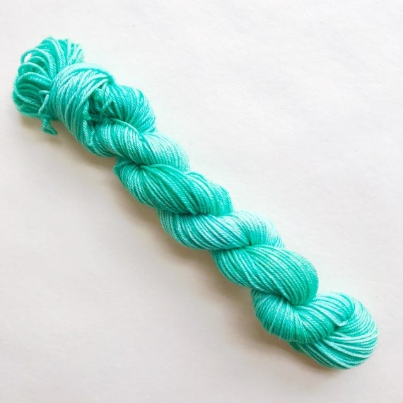 GREENWAY hand dyed yarn mini skein