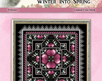 Winter Into Spring February Counted Cross Stitch Pattern by Pamela Kellogg