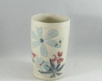Ceramic teacup, bumblee cup, wine tumbler, teacup, flower vase, save the bees pencil holder, toothbrush holder, desk caddy, bathroom set 954