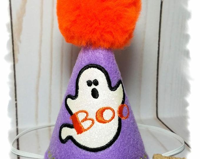 Dog Birthday Hat for Halloween, Dog Halloween Hat, Ghost Party Hat, Halloween Birthday Hat, Dog Party Hat, Ghost Party Favors