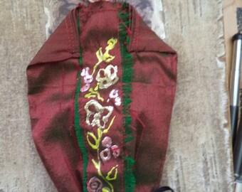 silken jewelry bag