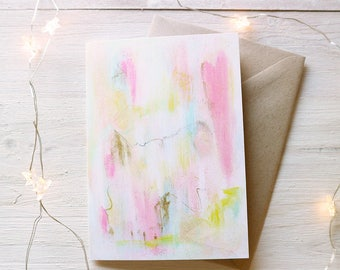Blended Abstract Pretty Greeting Card