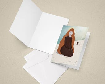 The little match girl greeting card - for any occasion