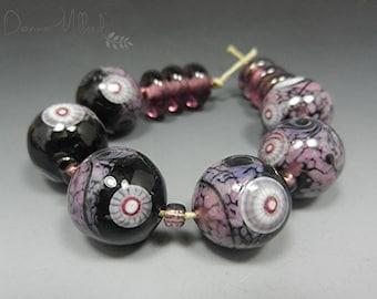 Artisan HANDMADE LAMPWORK beads artisan Glass Beads Donna Millard handmade beads lampwork earrings lampwork focal lampwork bracelet
