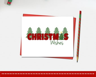 Christmas Wishes Card - Christmas Cards - Christmas Card - Xmas Card
