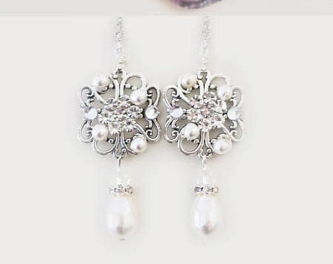 Art Deco Earrings Costume Jewelry