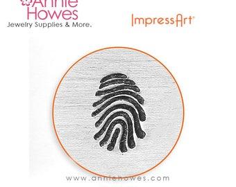 Impressart Metal Stamp for Jewelry Stamping - Fingerprint Design Shape