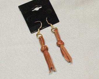 Leather Knot Earrings