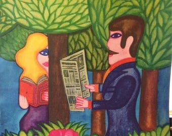 1960s POP CULTURE pop ART Poland Magazine cover art by Andre Krayewsk Andrzej Krajewski