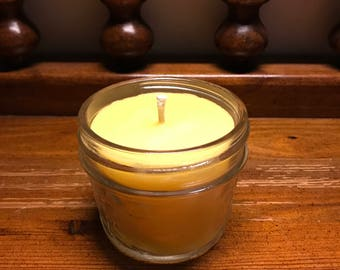 4oz beeswax candle