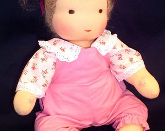 "16"" Waldorf Baby Doll jointed (button-free) full kit + free pattern and instruction book (clothes not included)"