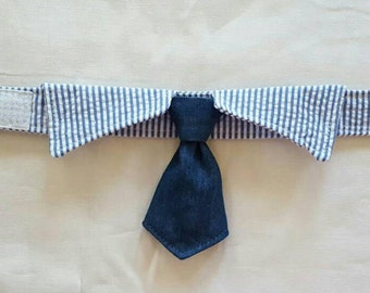 Dog Necktie with Shirt Collar, Pet Supplies,  Pet Clothing and Accessories, Designer Dog, Wedding, Pet Neckwear, Neck tie, for dogs, Dogs