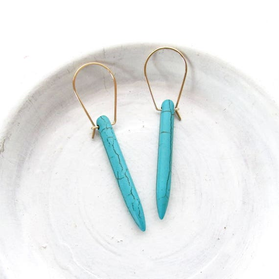 Wholesale Listing // Turquoise Dagger Earrings // Sterling Silver or Gold // ETDS & ETDG