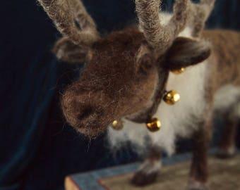 Needle felted reindeer...'Jaska'