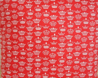 """Custom Order - 25"""" x 20"""" Crowns Pillow Cover Red"""