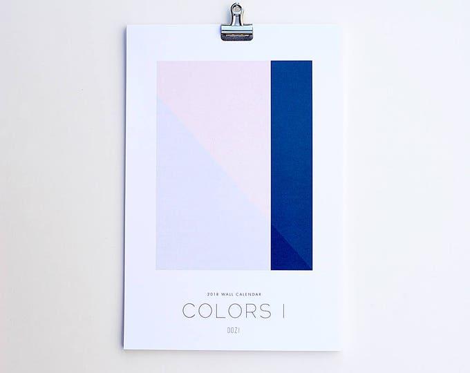 Wall Calendar 2018 - Colors I