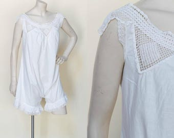 Edwardian Step In --- Antique White Nightie