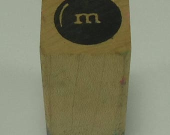 M & M Wood Mounted Rubber Stamp From Too Much Fun