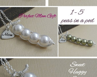 12345 sweet peas in a pod sterling silver personalized hand stamped initial charm necklace for brides, friends, sisters and mothers, for her