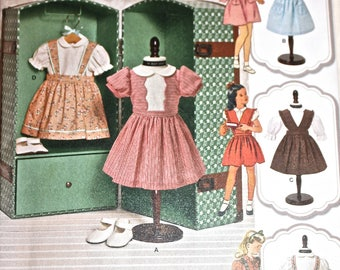 "Retro Style Doll Clothes Pattern, Simplicity 1244, for 18"" Doll"