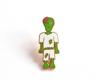 Zombie Pin Badge, Hard Enamel Pins, Lapel Pin, Halloween Pin, Enamel Pin Badge, Rock Cakes, Brighton, uk