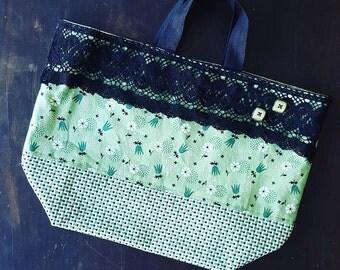 Floral Tote Reusable Market Bag Project Bag Gift Bag Denyse Schmidt