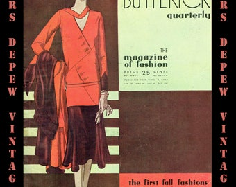 Vintage Sewing Pattern Catalog Booklet Butterick Quarterly Autumn 1929 PDF Digital Copy -INSTANT DOWNLOAD-