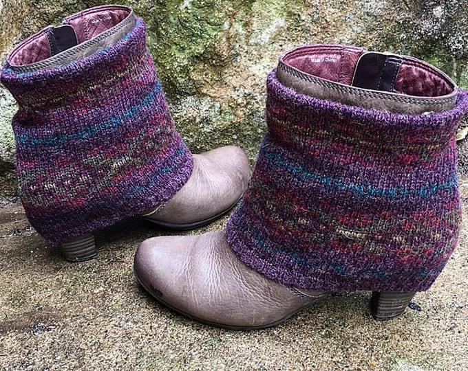 Fair Isle Mini Wool Boot Sweaters ~ Perfect for your favorite short boots. Ready to Ship to You