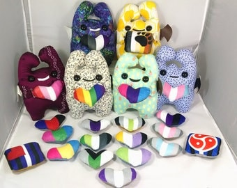 Customizable Pride Pal Monster Plush - 67 Styles + 23 Flags!