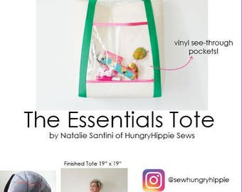 Only the Essentials Tote PDF sewing pattern by HungryHippie Sews