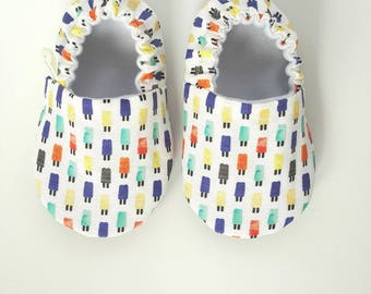 Popsicle Baby Moccs / Baby Shoes / Baby Moccasins / Soft Sole Shoes / Montessori Shoes / Waldorf Shoes / Vegan Moccs