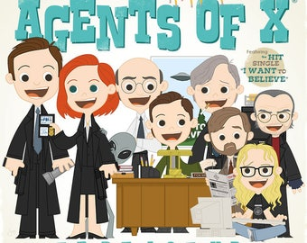 The Agents of X - 12.5 X 12.5 PRINT